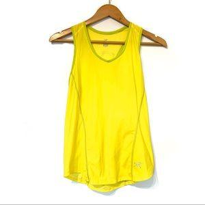 Arc'teryx yellow racerback athletic tank top run